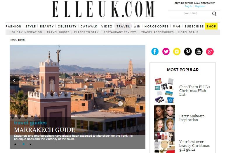 ELLE Travel Page Design